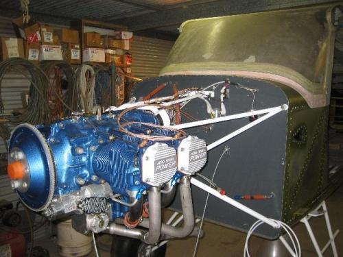 Engine mounted.