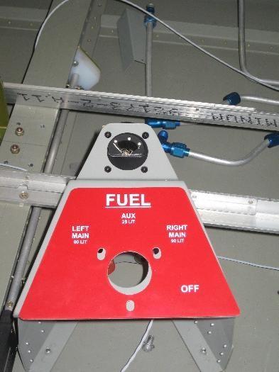 Fuel selector Placard