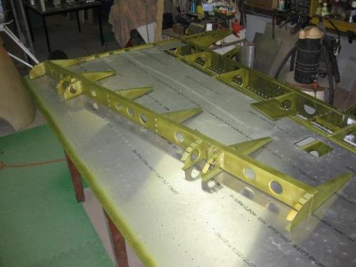 First Flap framework assembled