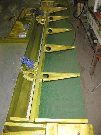 Flap frame mated to the wing opening.