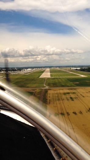 Landing on 36L Oshkosh!