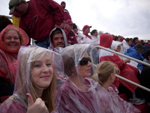 Rain doesn't melt a Hog fan!