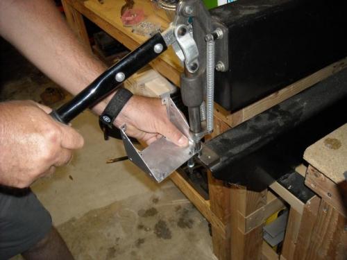 Installing nut plates