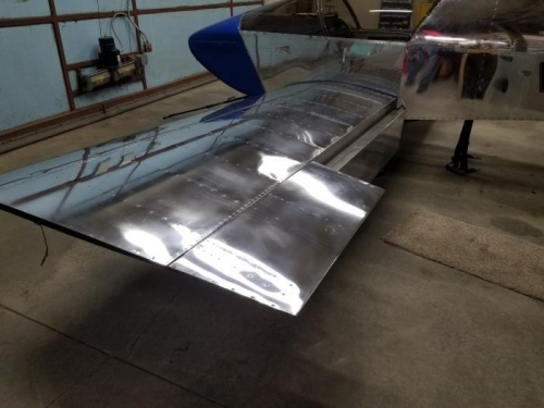 Left aileron and flap.