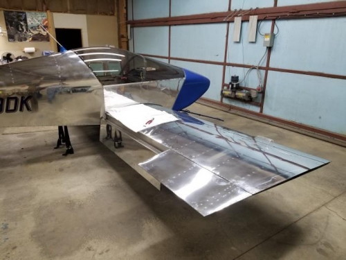 Right aileron and flap.