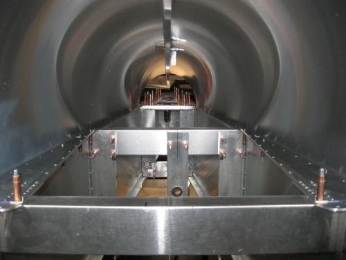 Inside of aft fuselage.