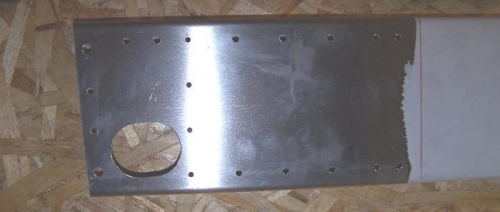 Right spar attach plate area ready to rivet