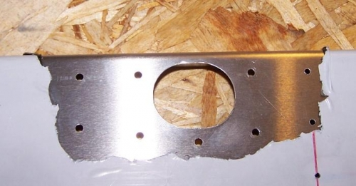 Right spar doubler ready to rivet