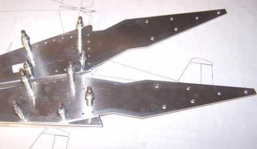 Counterbalance brackets cleco'd to ribs