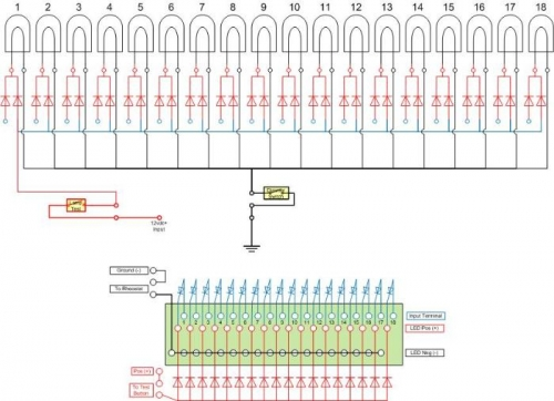 Visio schematic for the circuit